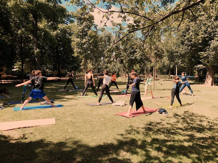 Yoga in the Park by Raquel Febrer